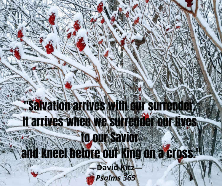 Salvation arrives with our surrender Psalm 98